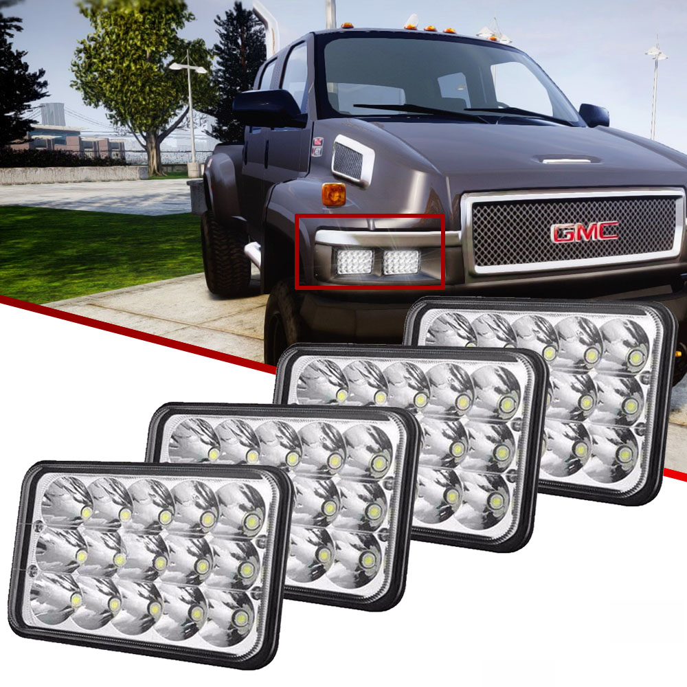 Chevy C5500 Headlamp Wiring Library 4pcs 4x6 Inch 45w Hi Lo Beam Led Headlight Fit Gmc C4500 Chevrolet Kodiak