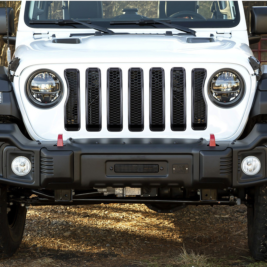 7x Front Grille Grill Insert Cover Mesh Trim For 2018 Jeep Wrangler JL Sport #ya
