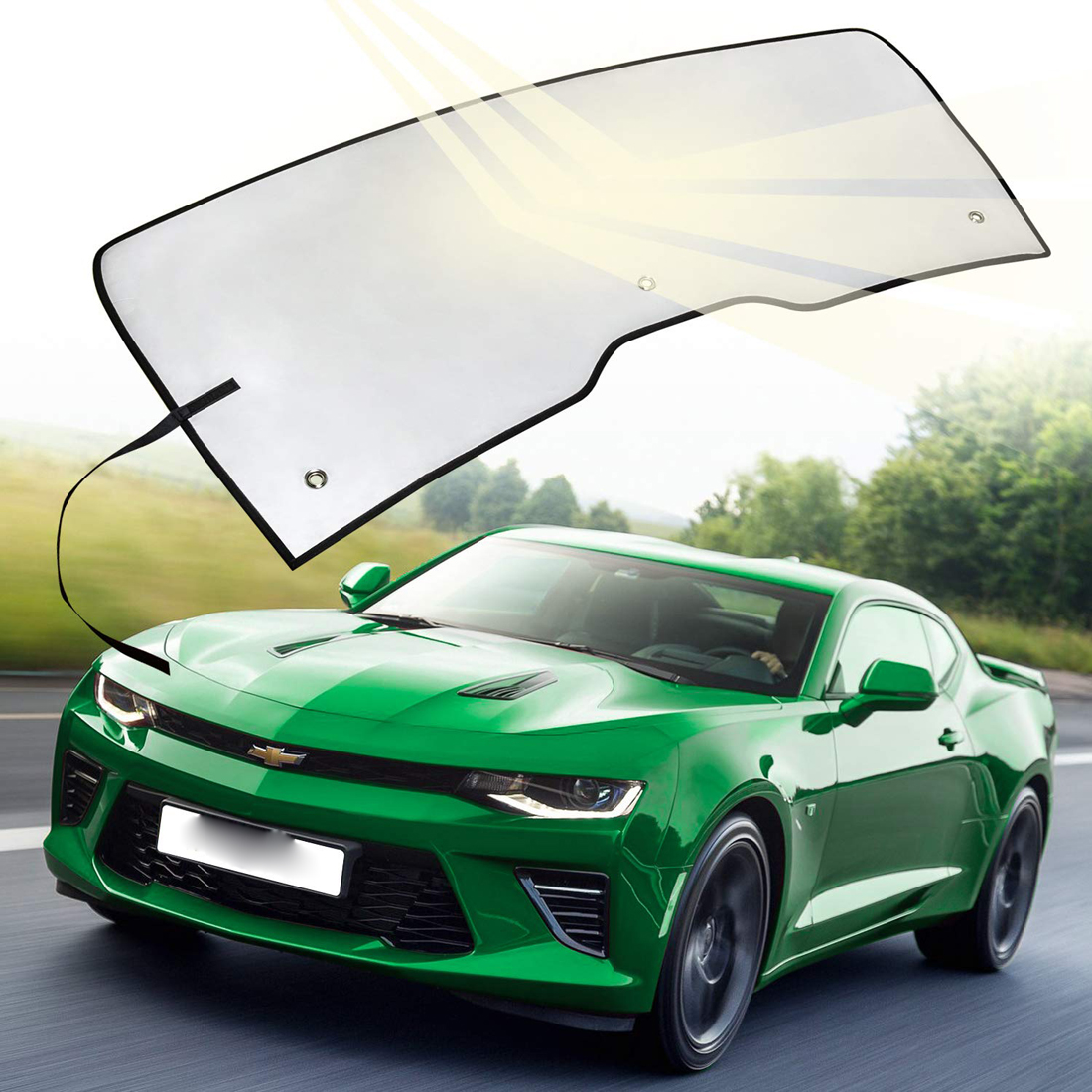 Intro-Tech Silver Custom Car Sunshade Windshield For Chevrolet 2016-2017 Camaro