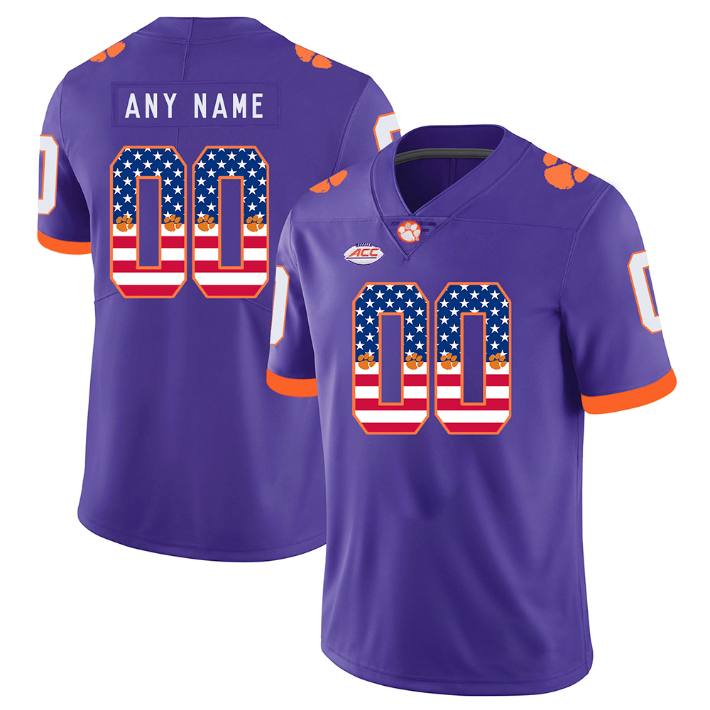 9c3a6e2c2 Custom Clemson Tigers Stitched Jersey Limited Football College Game Alumni  Men s