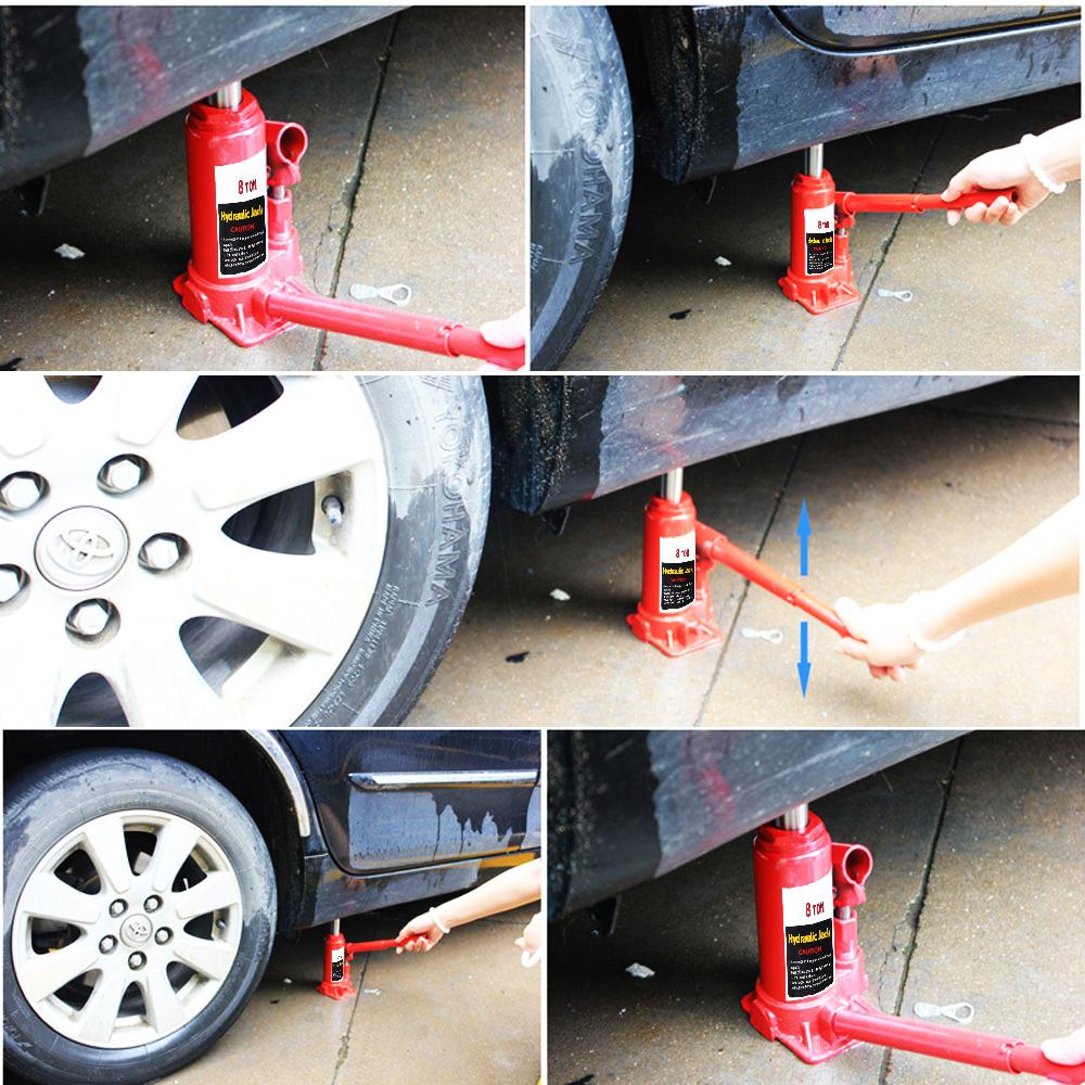 Design of bottle car jack - 8000kg Hydraulic Bottle Jack Lift 2pcs 3t Adjustable Car Jack Stand Heavy Duty