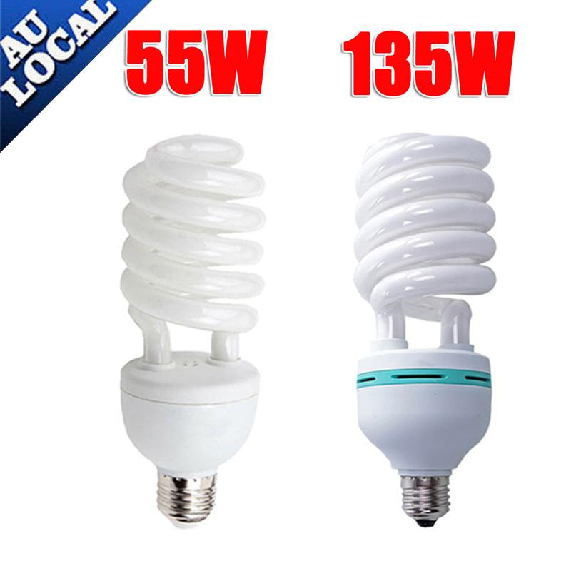 55W 135W Daylight Spiral Light Bulbs Energy Saving
