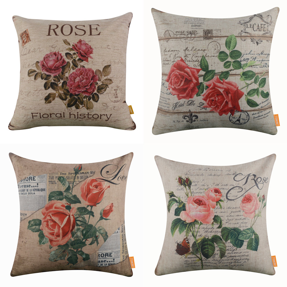 BLEUM CADE Pillow Cover Reversible Sequins Mermaid Pillow Cases Throw Cushion Cover 16x 16 Rose Red/&Gold