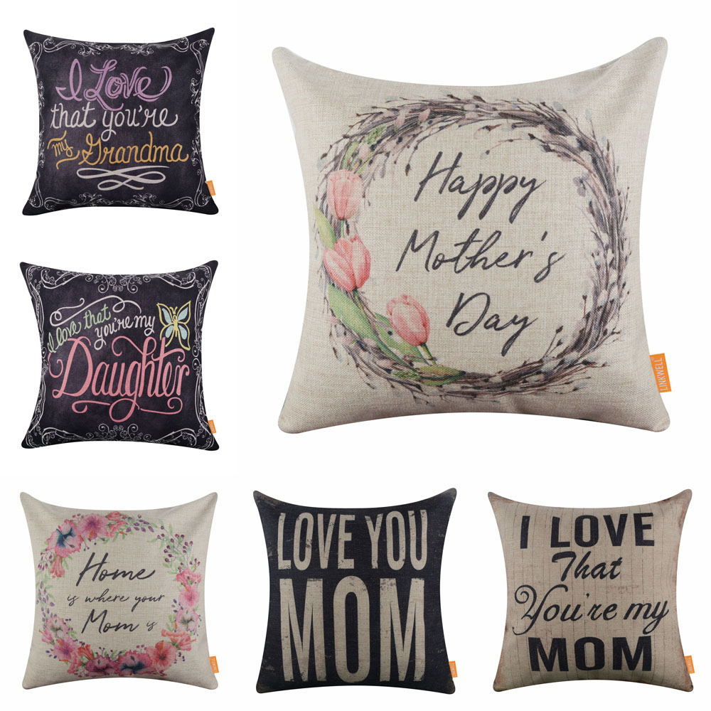 I love you to the moon and back mum cushion cover  Cute Mother/'s Day Gift with heart  Gift for mum  Custom mom gift  Square Pillow Cover