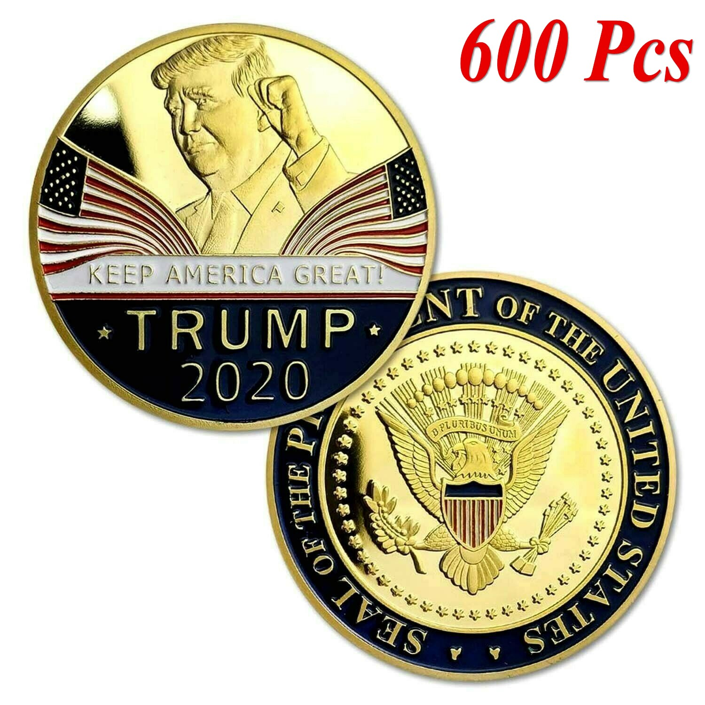 20PCS Donald J Trump 2020 Keep America Great Commander Silver Challenge Coin RF