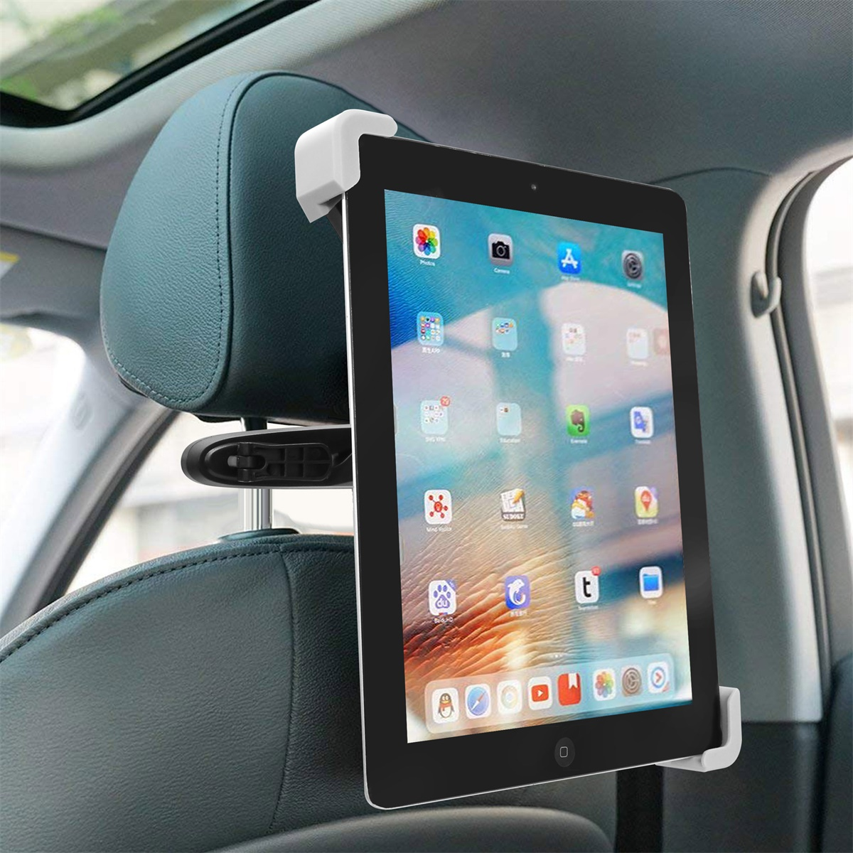 Black and Green Universal 360-Degree Rotating Tablet PC Car Holder
