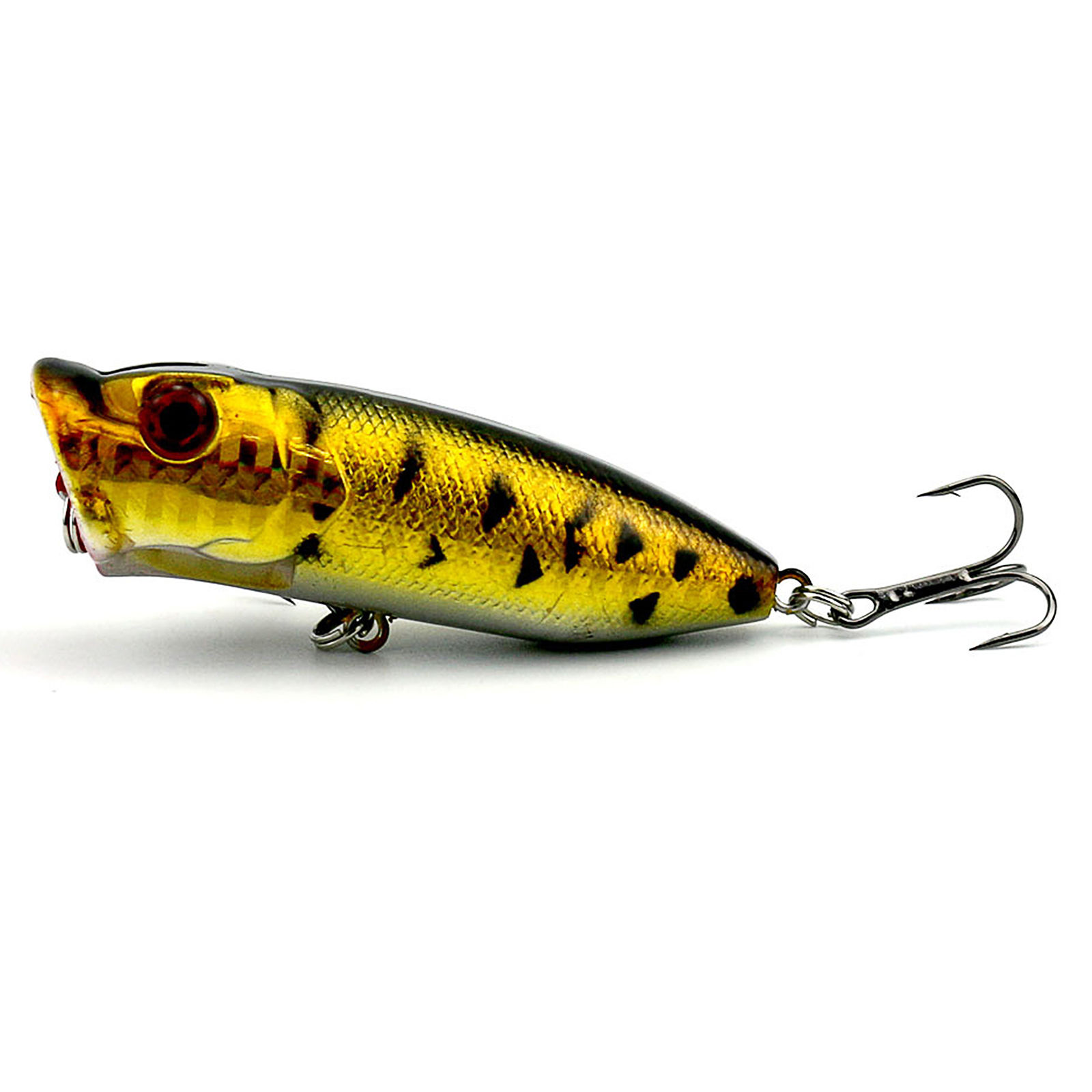 Lot of 5PCS Topwater Popper Freshwater Fishing Lures Bass ...