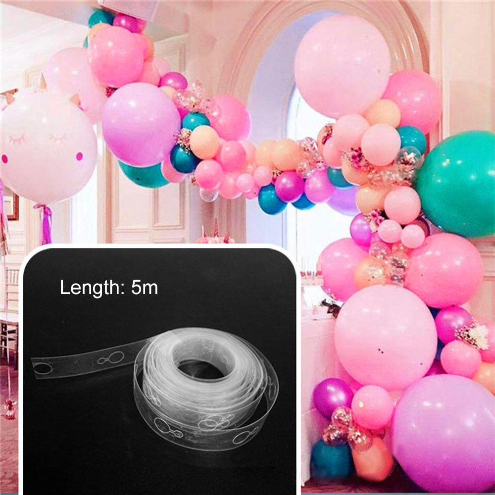 5 M ballon chaîne ruban arc connecter bandes pour mariage anniversaire décor Supply