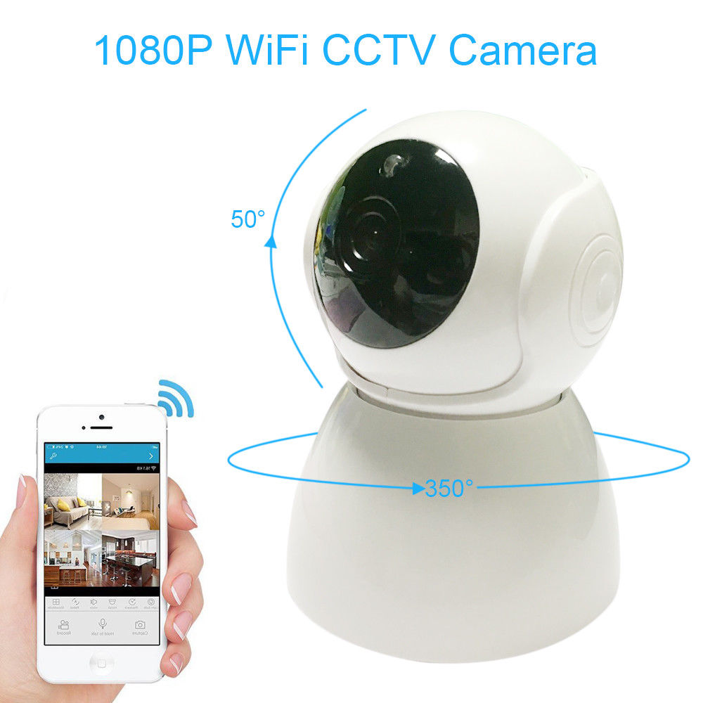 Wireless WiFi IP Camera 1080P HD Security Webcam Baby Monito