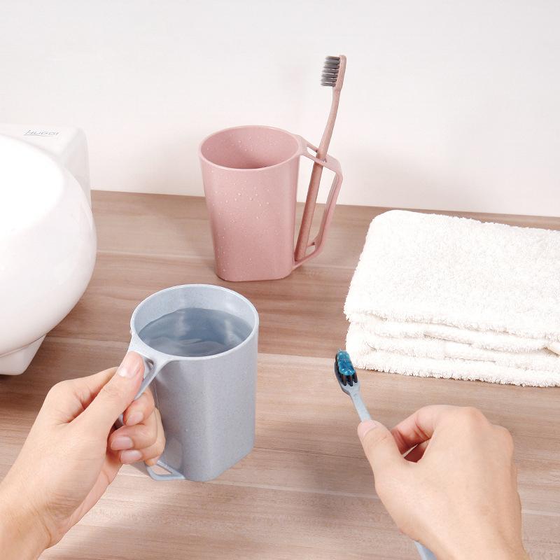 Toothbrush Holder Cup Circular Cups Rinsing Wash Tooth Mug Tumbler Bathroom A