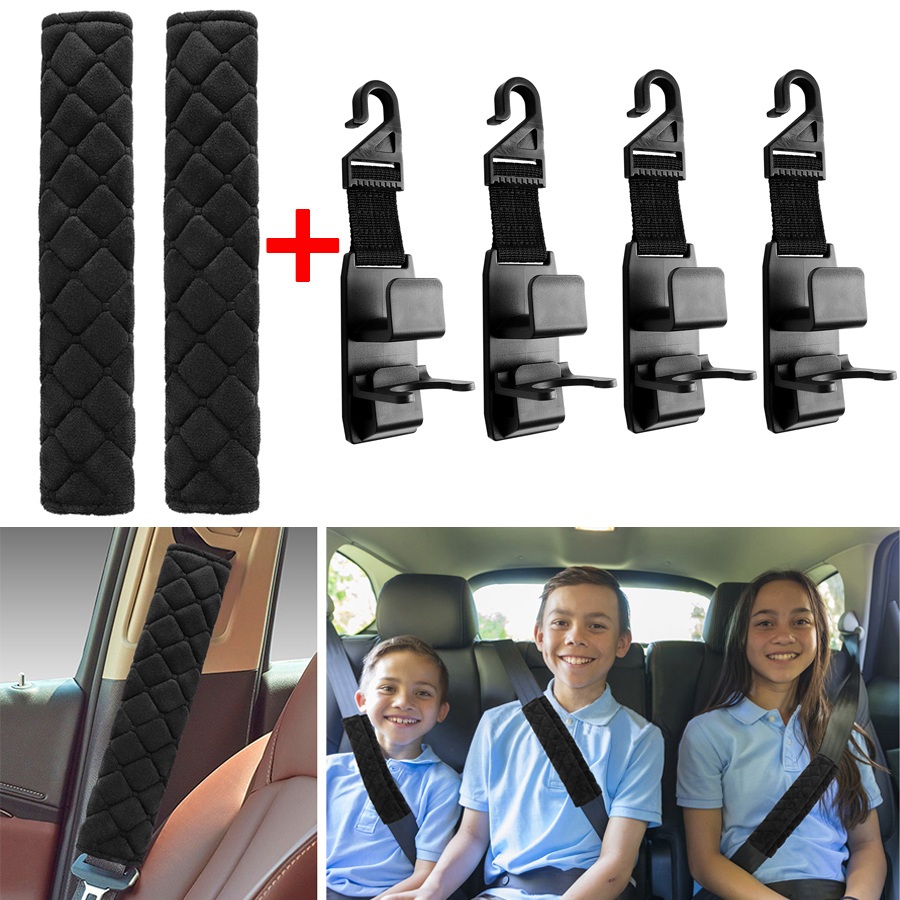 2PC Shoulder Cover Cushion Seat Belt Pad Strap BackPack Harness Car Baby Safety.