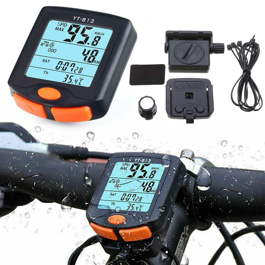 Digital Wireless Cycling Bike Bicycle Computer Odometer Speedometer Backlight