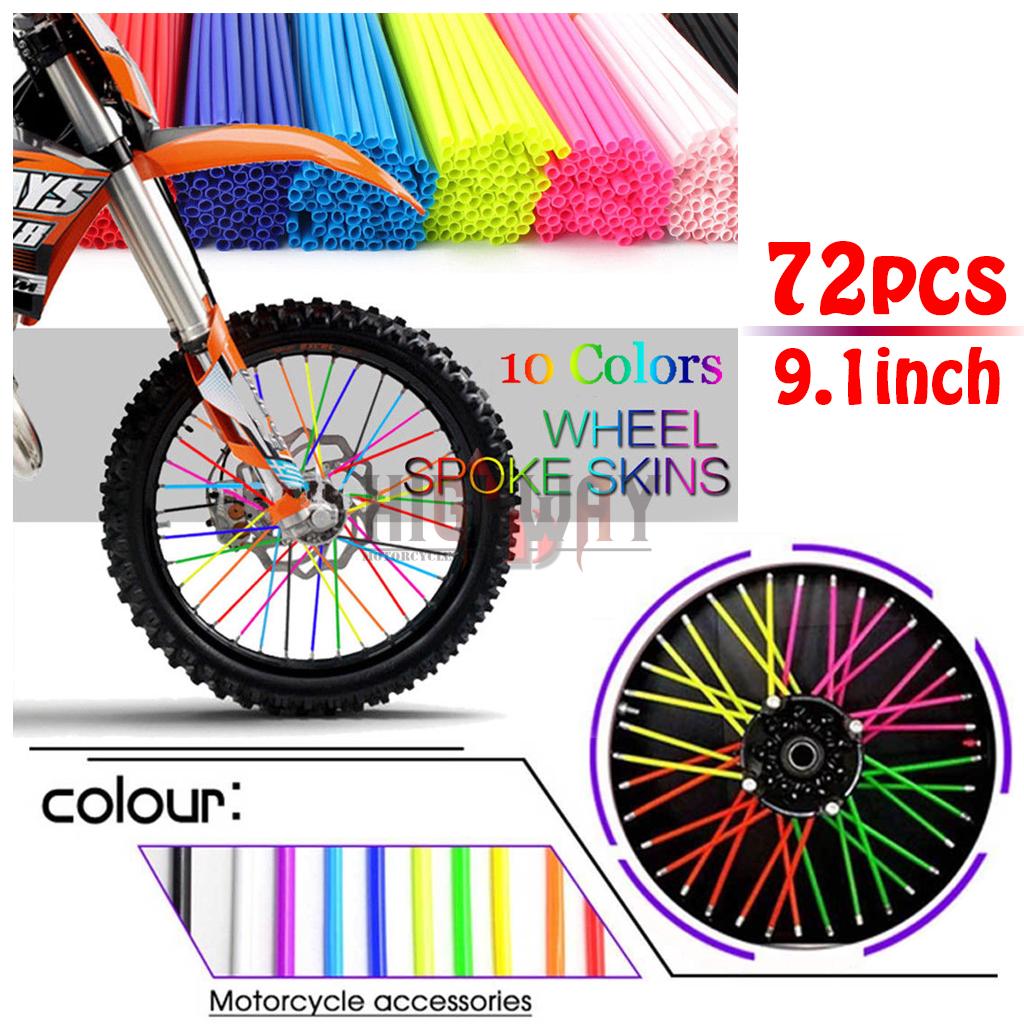 7a3372e643e99 Details about 72PCS Wheel Spoke Skins Covers Rim Guard Protector Wraps For  Motocross Dirt Bike