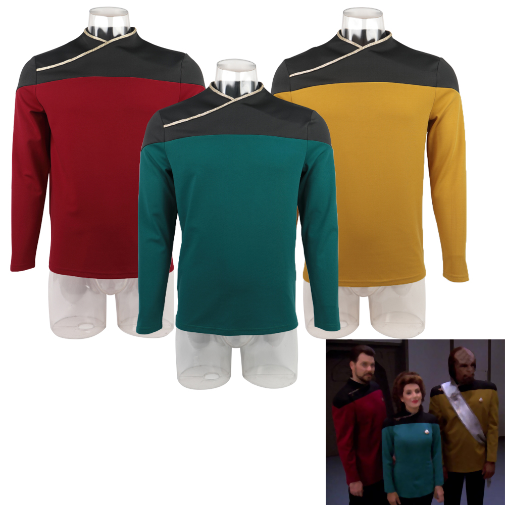 2019 Star Trek Picard Startfleet Uniform Cosplay Operations Gold Top Shirt New