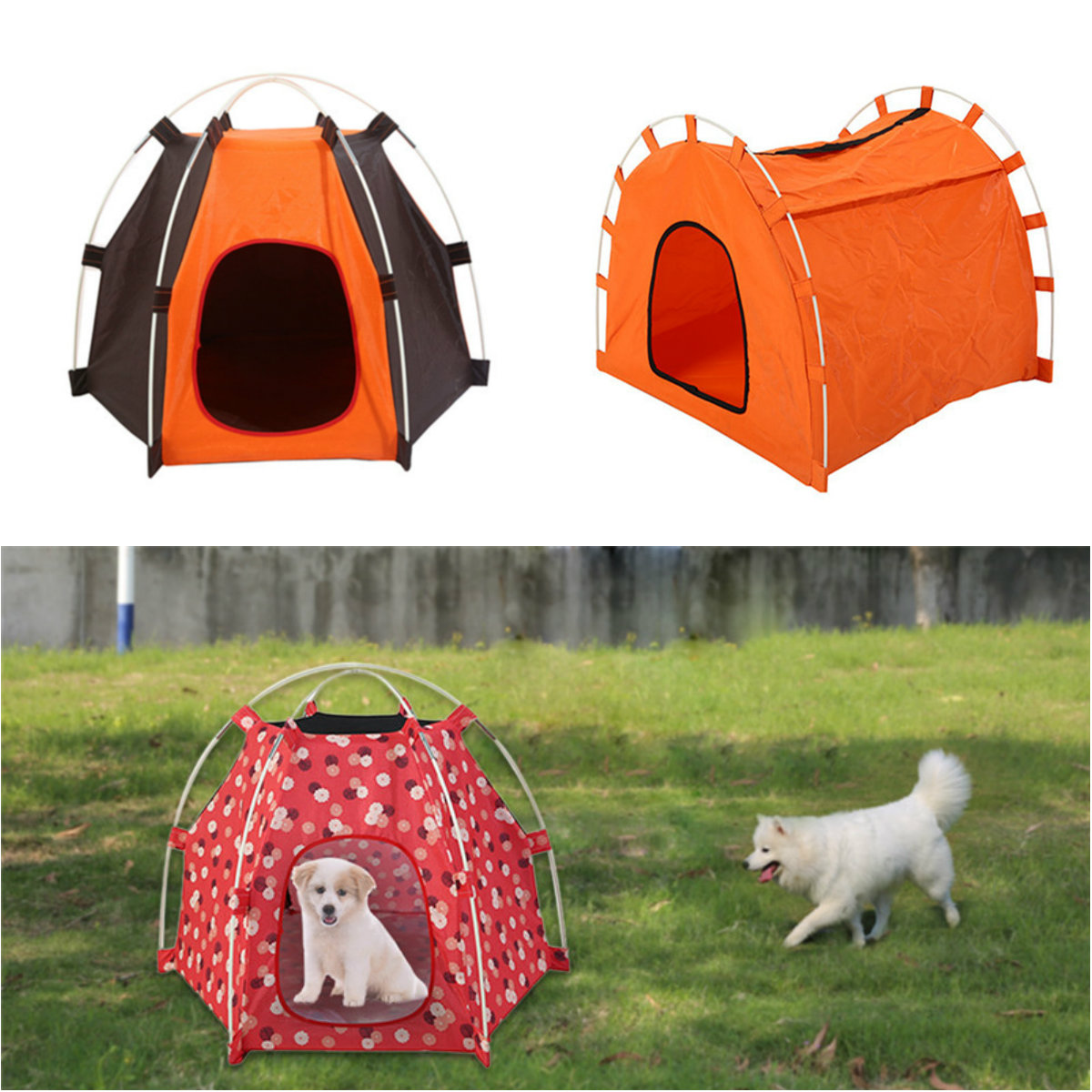 Portable Folding Dog House for Pet Kennel Soft Cat Puppy Outdoor Tent Waterproof  sc 1 st  eBay & Portable Folding Dog House for Pet Kennel Soft Cat Puppy Outdoor ...
