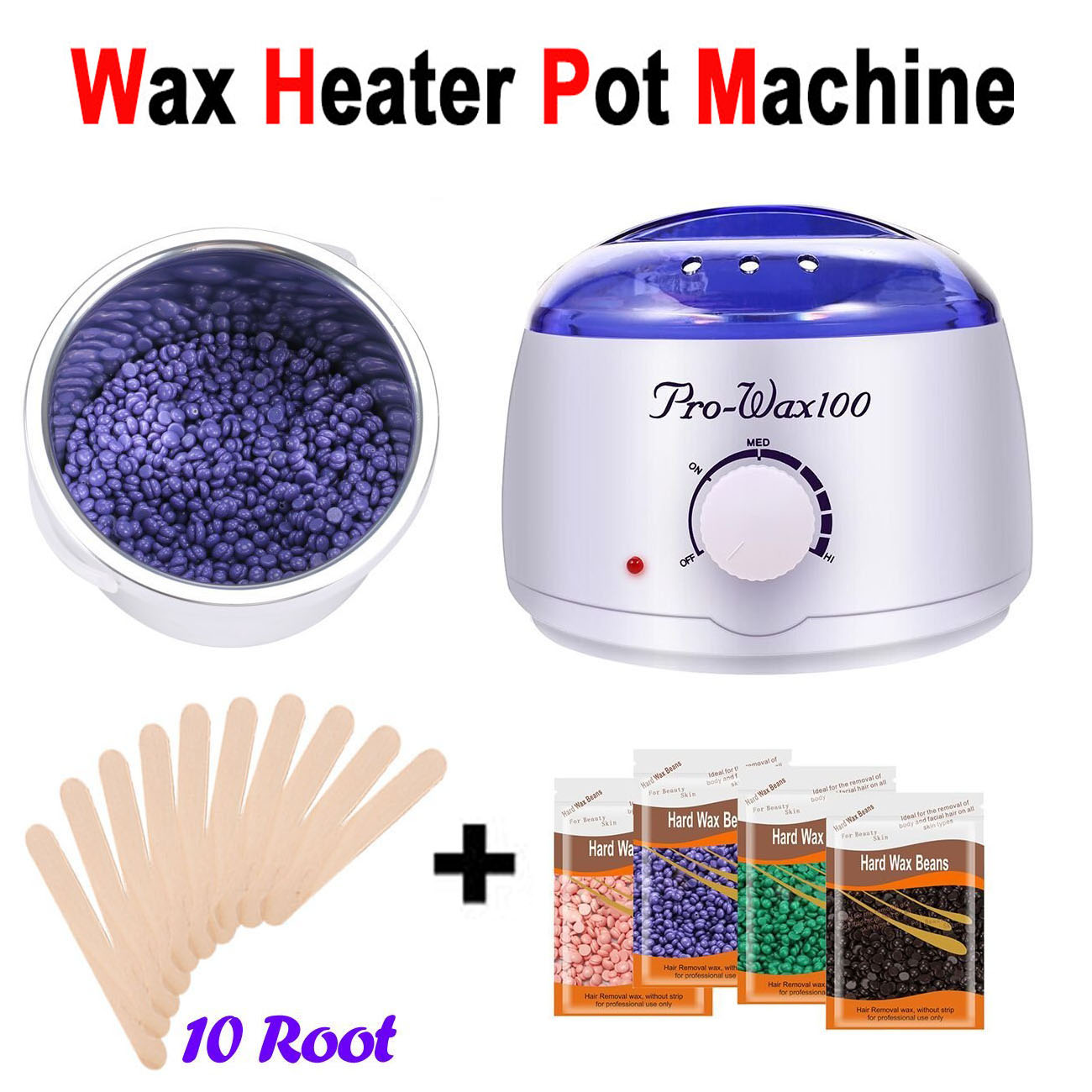 110v 220v Wax Heater Pot 100g Wax Beans Hair Removal Paraffin Cream Warmer Spa Ebay