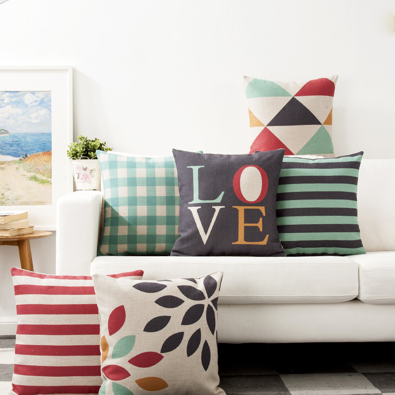 Details About 18 Inch Pillow Cover Nordic Minimalist Classic Geometry  Cushion Cover Pillowcase
