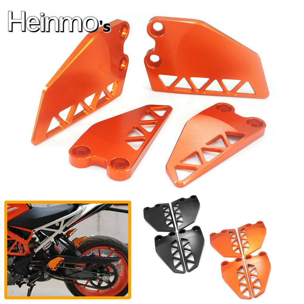Heinmo For Kawasaki Z900 2017 Foot Peg Heel Plates Guard Protector Heel Protection Footrest