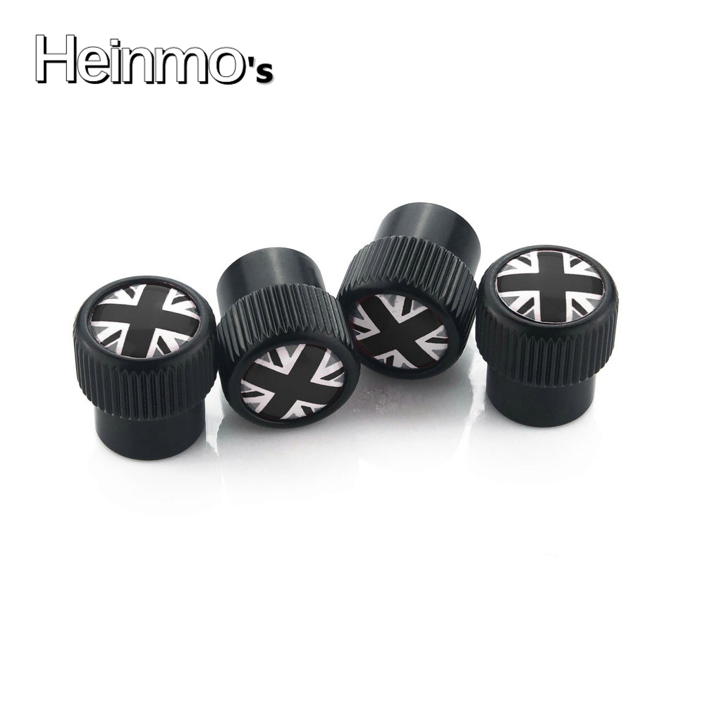 4PCS//set Wheel Tire Parts Valve Stem Caps Cover For MINI Cooper One S R50 R53 R56 R60 F55 F56 Black