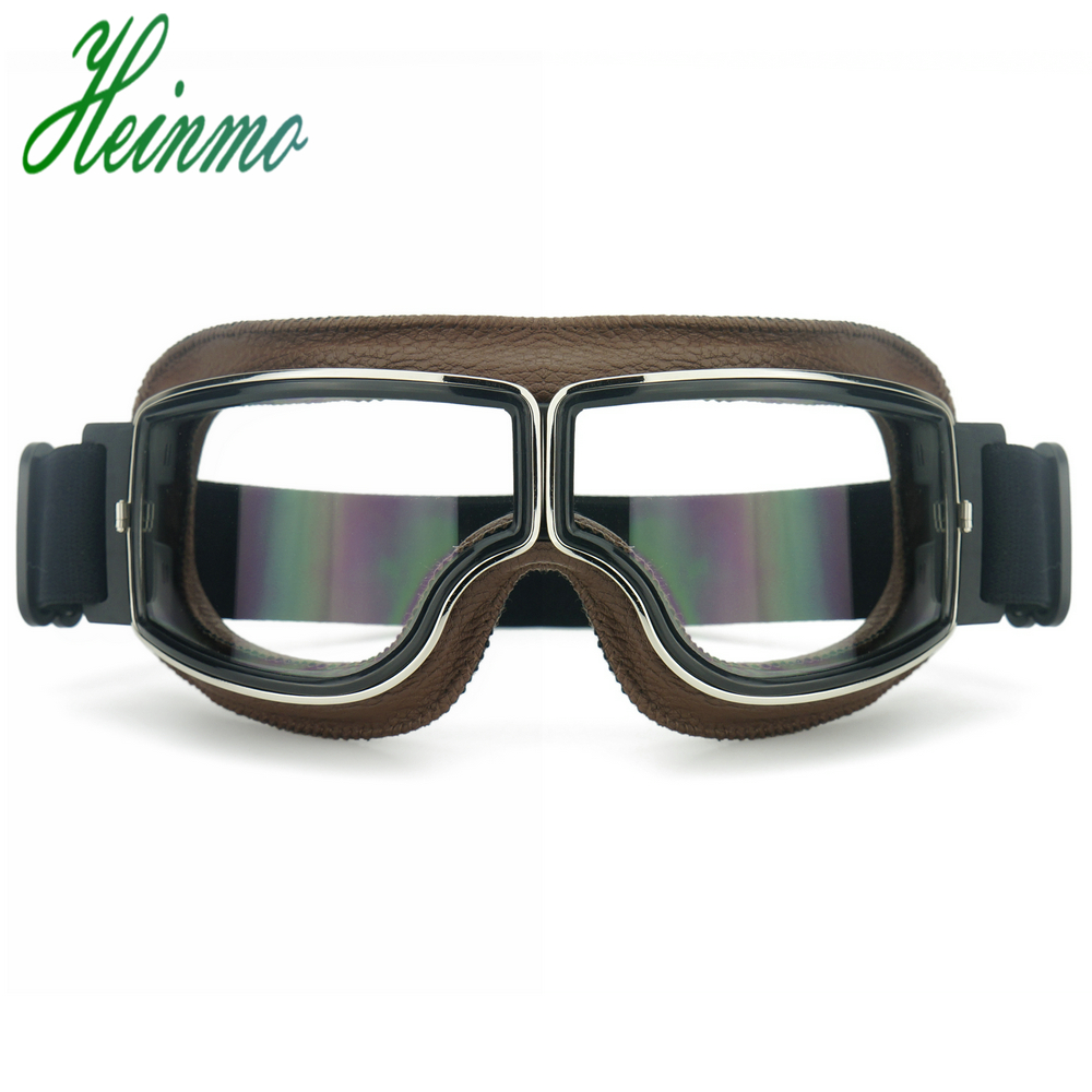 Aviator Pilot Cruiser Motorcycle/&Bicycle Scooter ATV Goggles Eyewear Smoke Lens