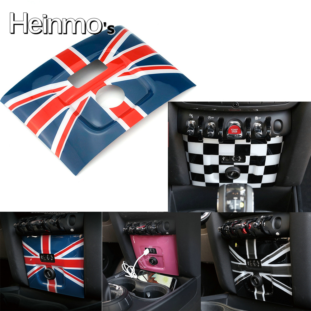 Pannello decorativo per accendisigari USB per Mini Cooper F60 Countryman Car Styling accessori Red Union Jack CCJ Union Jack