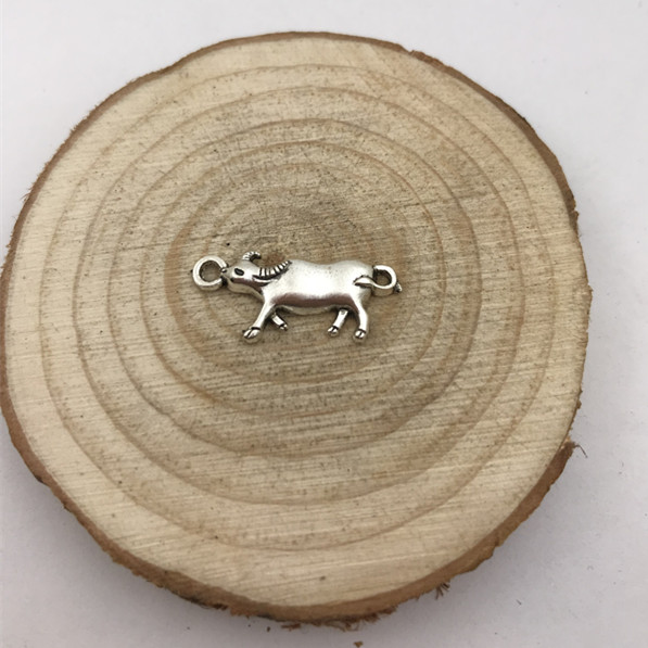 6pcs Cow Charm Tibetan Silver Tone Pendant  Charms Pendants 23x10mm