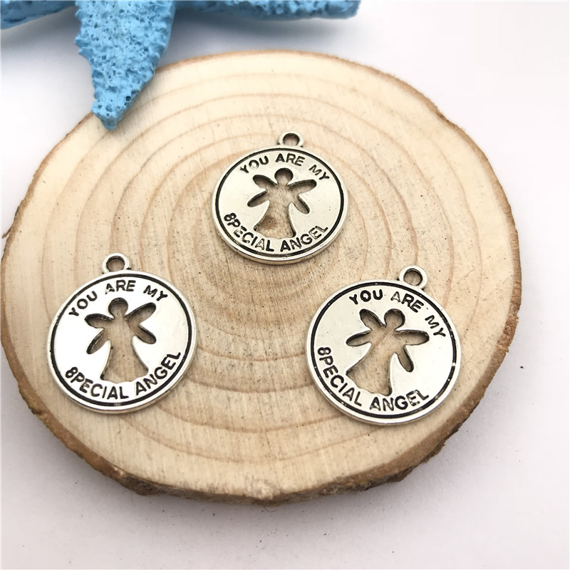5pcs Jewellery Making My Special Angel Charms Pendant Tibetan Silver 18x21mm