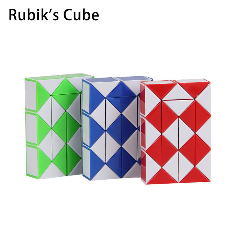 Toys & Hobbies Puzzles & Games Hard-Working 1 Pcs Magic Snake Twist Cube Puzzle Ruler Toys Brain Intelligence Puzzle Educational Toy