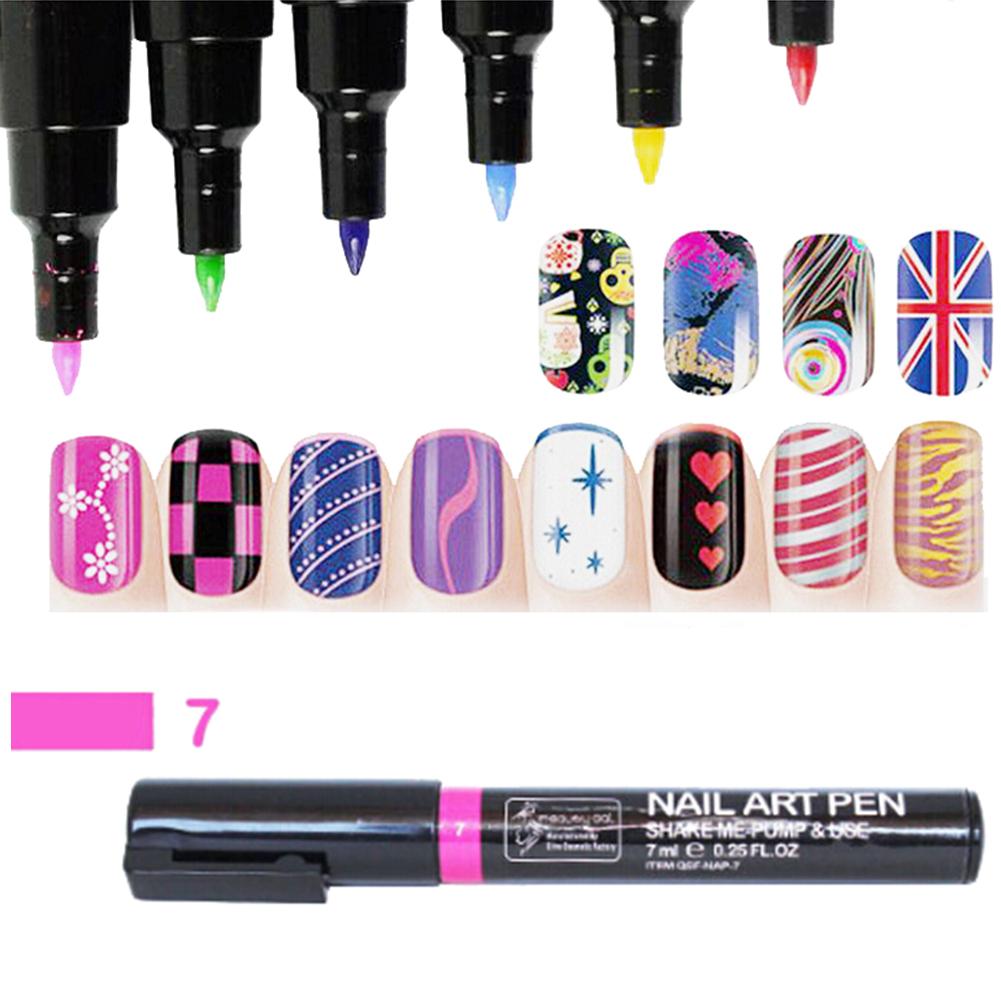 16 Colors Nail Art Pen Painting Design Tool Drawing for UV Gel ...