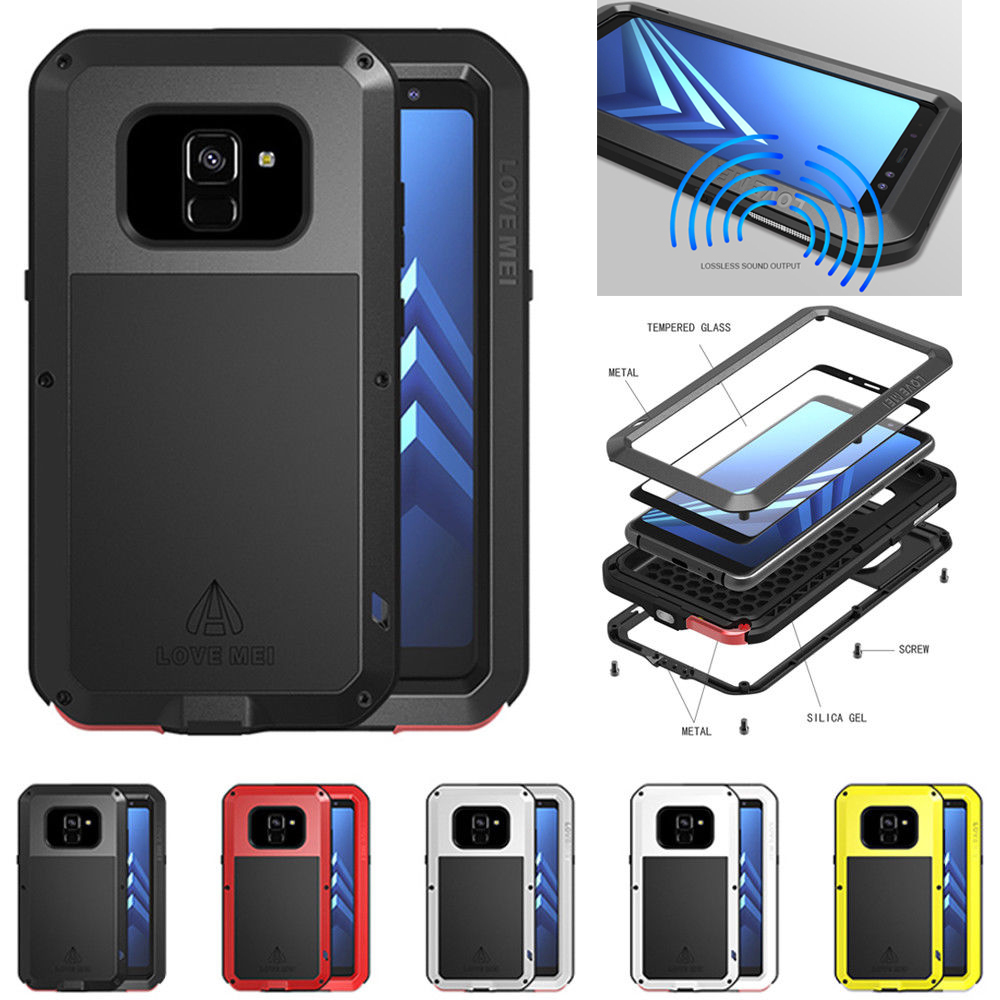 the best attitude c9d46 8686e LOVE MEI Armor Heavy Duty Aluminum Shockproof Case for Samsung ...