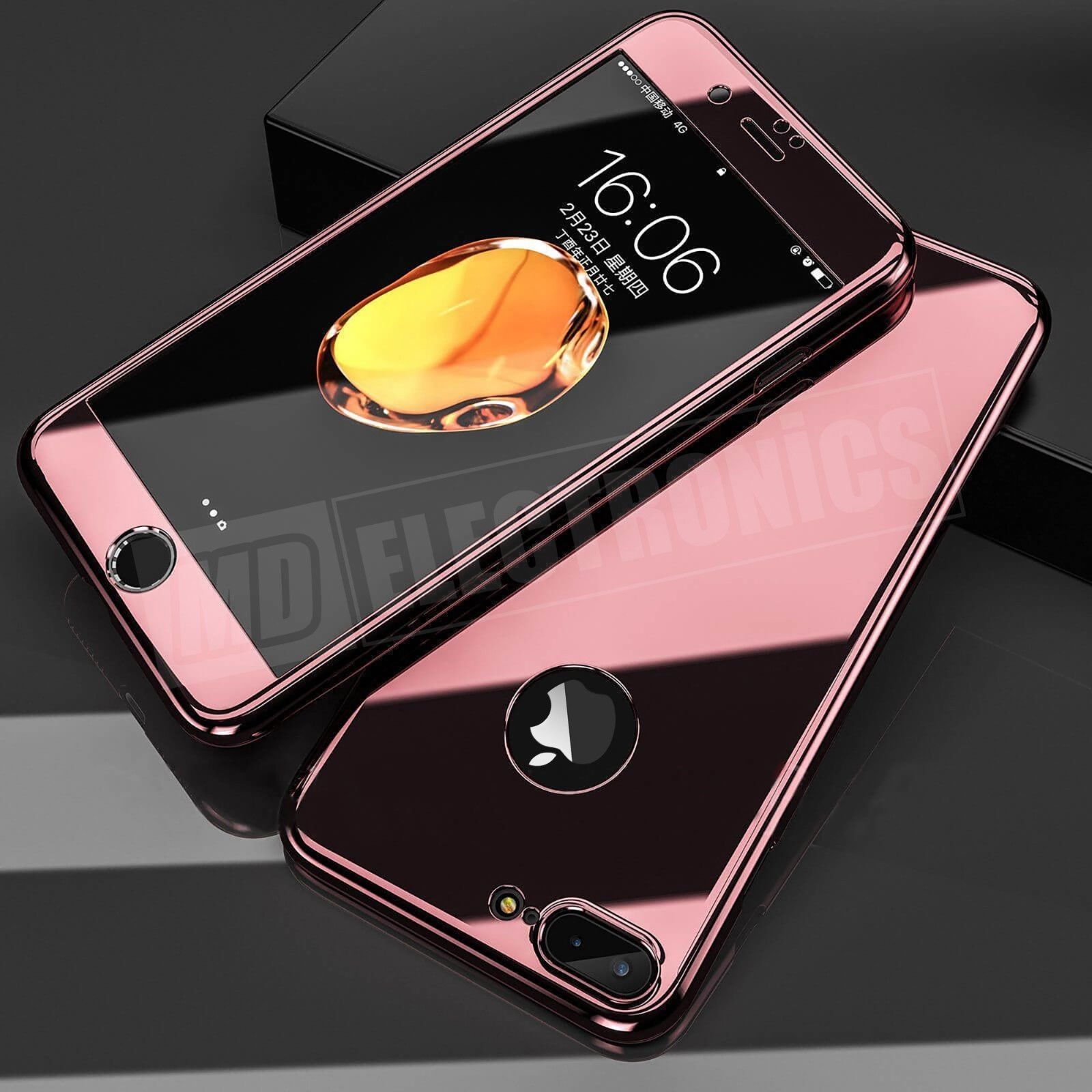 360° Full Body Shockproof Case Mirror Cover+Tempered Glass For iPhone XS  Max XR d18f0b734c7b