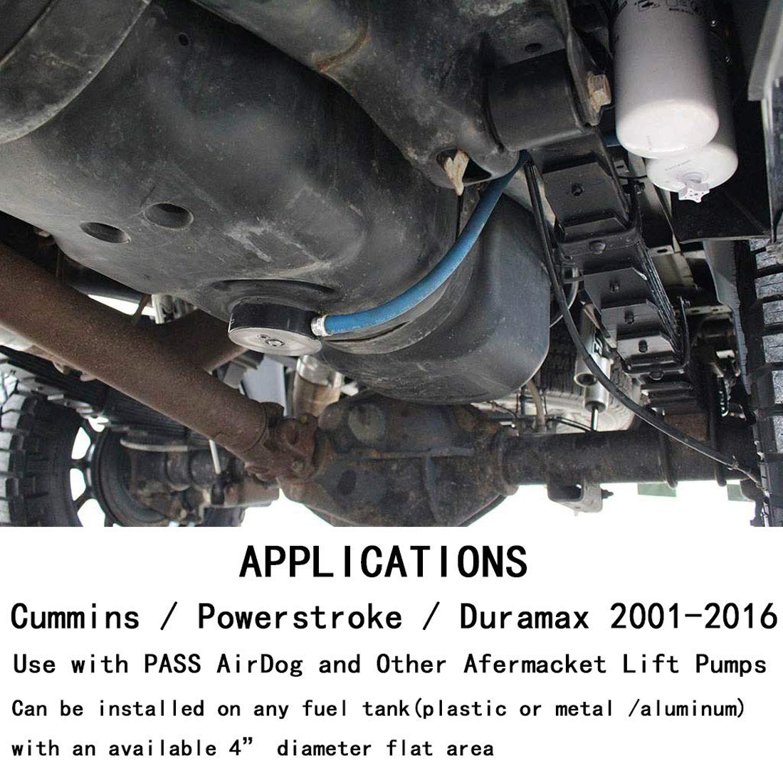 FASS AirDog Diesel Gas Fuel Pumps Tanks Sump Kit For Cummins Powerstroke Duramax