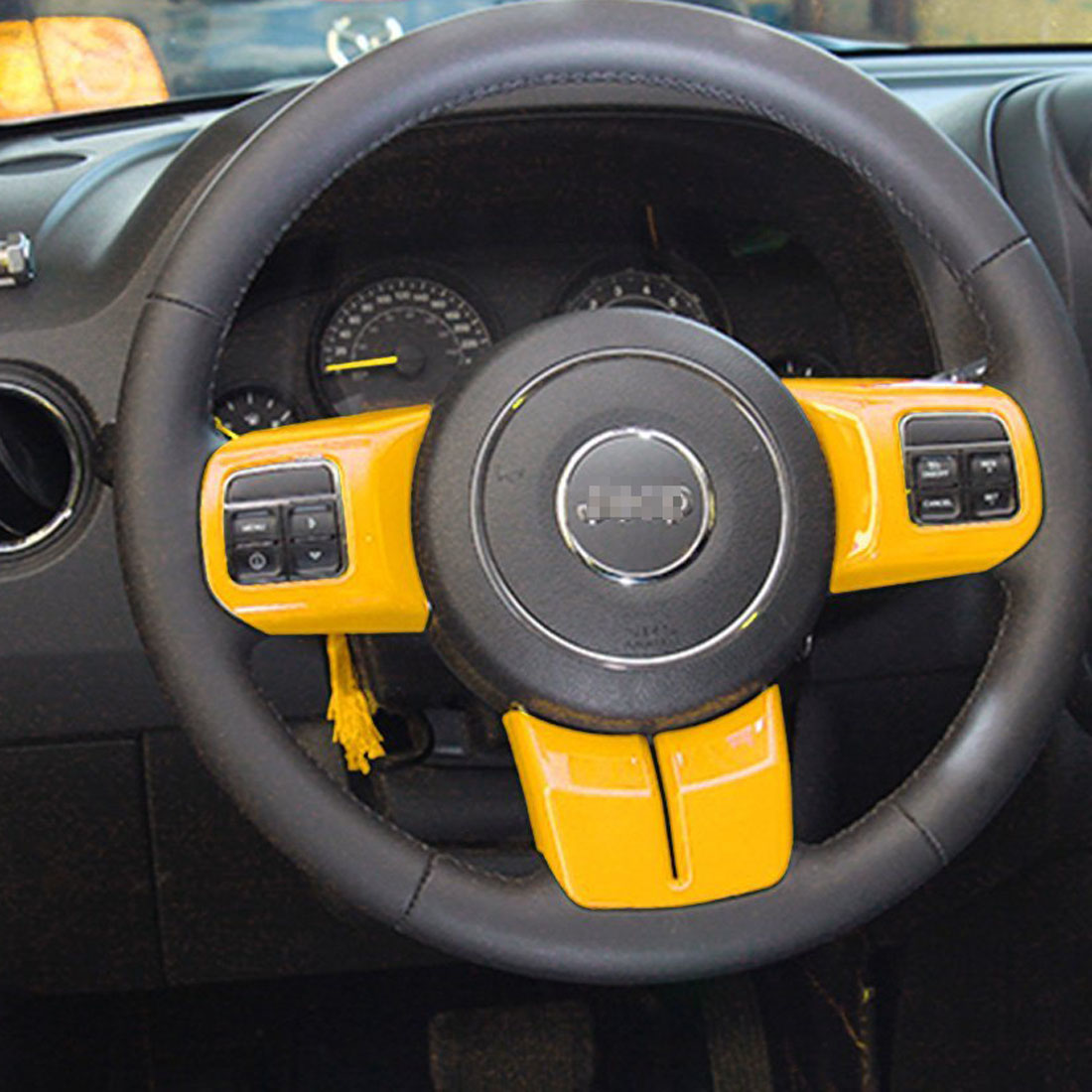 Jeep Wrangler Parts Frame Interior Dashboard Trim Cover Kit For 2011 2017 14x Yellow Abs 11 17