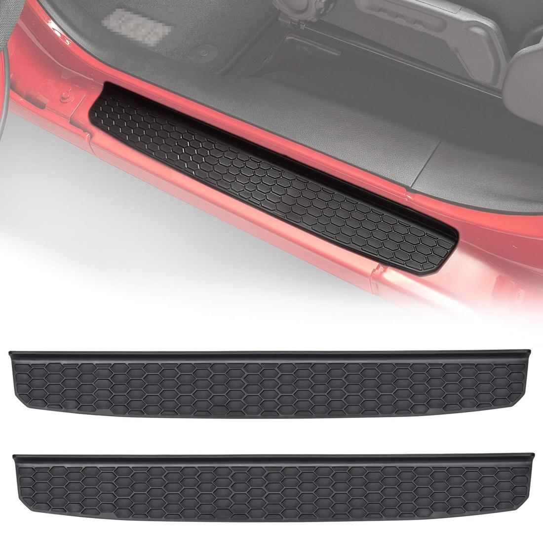 Door Sill Entry Guard Scuff Plate Protector Black For Jeep Wrangler JK 2 Door T1