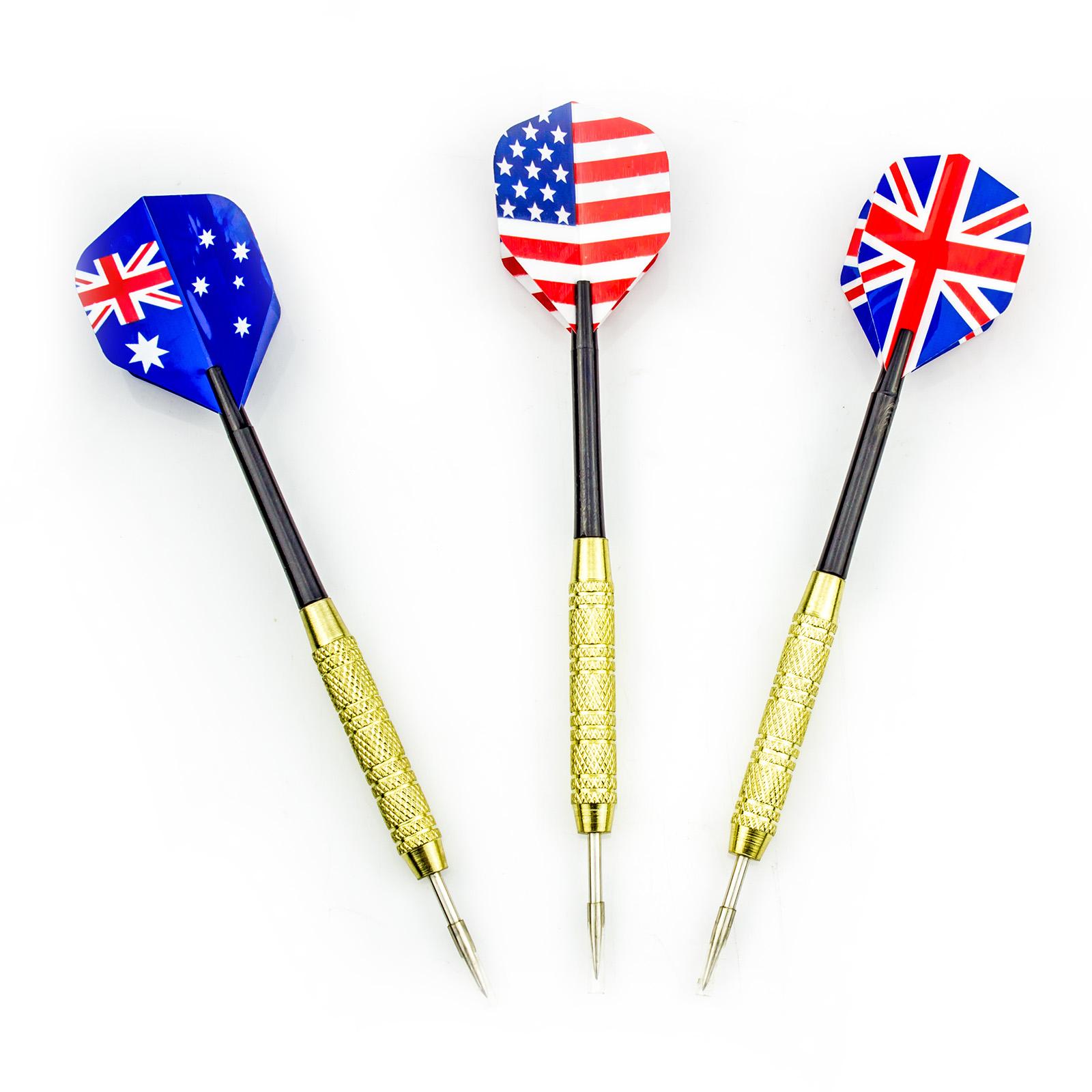 Set of 3 16g Steel Tip Darts American Flag