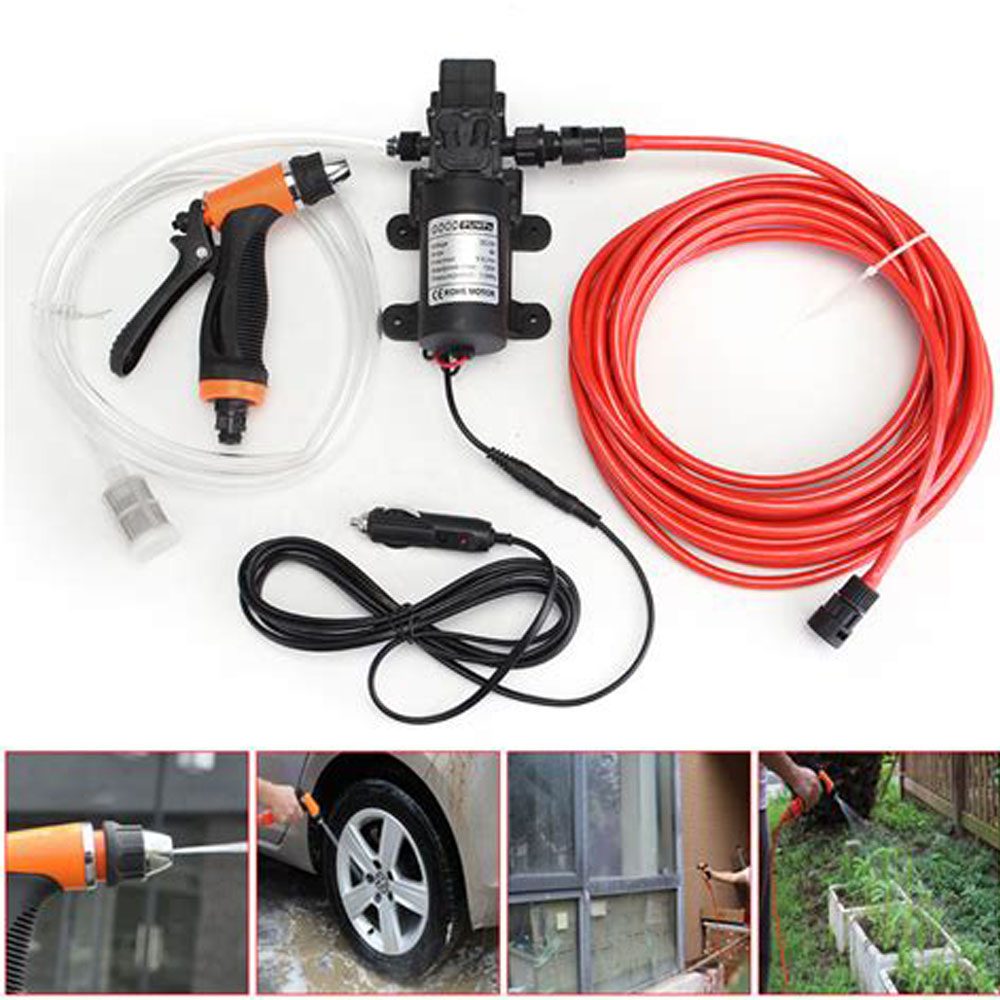 Automotive Car DC 12V Electrical Wash Pump Pressure Self-priming Cleaning Water Washer Tool