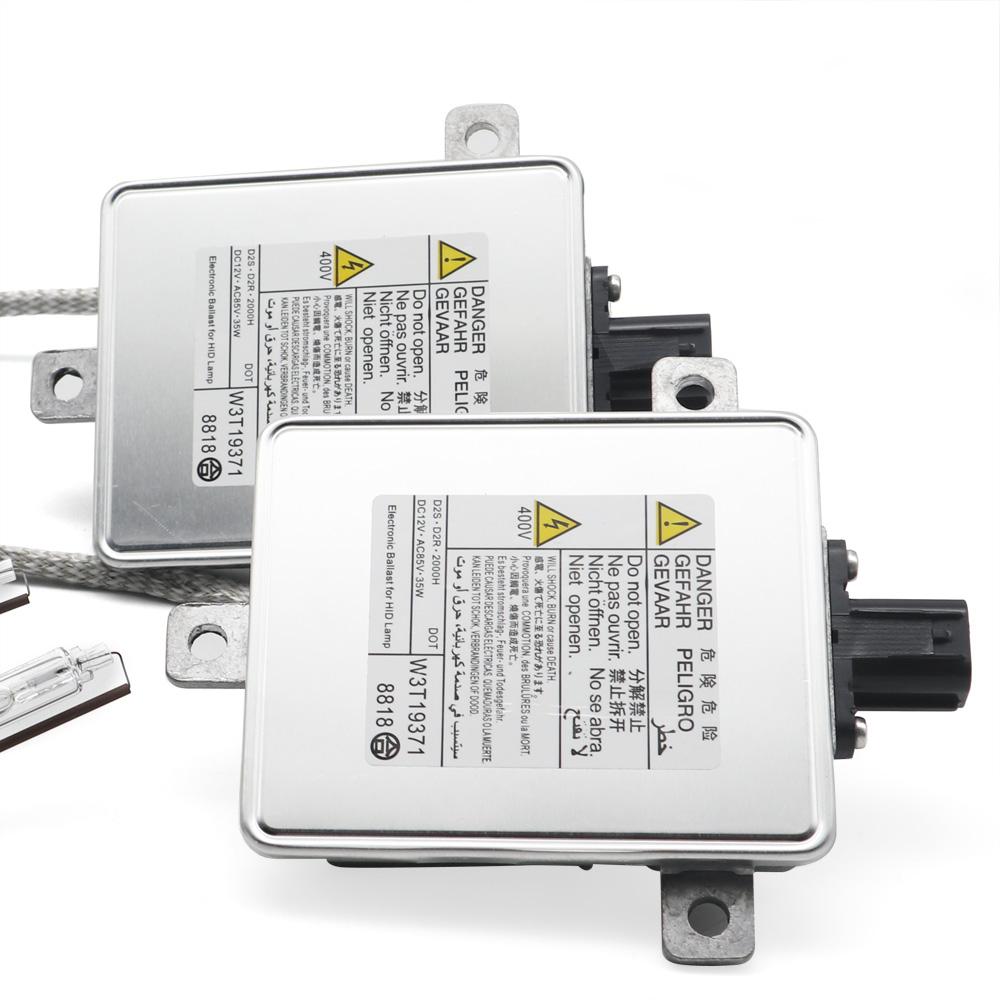 2Pcs HID Xenon Headlight Ballast &Igniter &D2S Bulb For