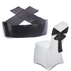 Prime Details About 100Pcs Ribbon Black Chair Bow Chair Cover Wedding Band Banquet Ceremony Decor Machost Co Dining Chair Design Ideas Machostcouk