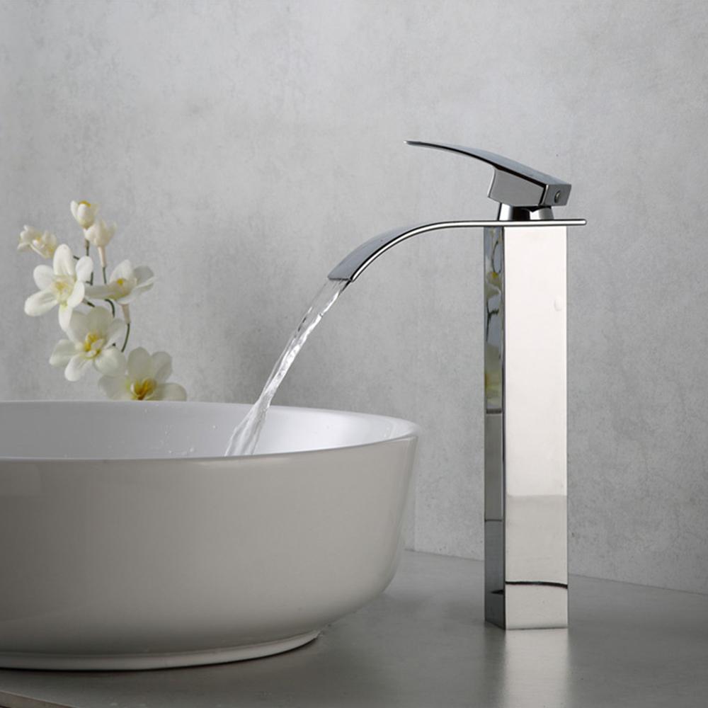 ein griff/hoch wasserfall badezimmer bad sinken wasserhahn