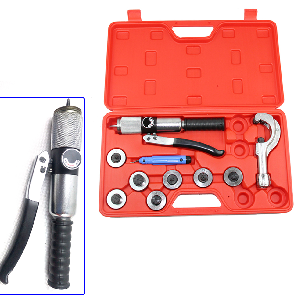CT-300A Hydraulic Tube Expander Kit 7 Expander Heads Hydraulic Tube Expander HVAC Swaging Tool