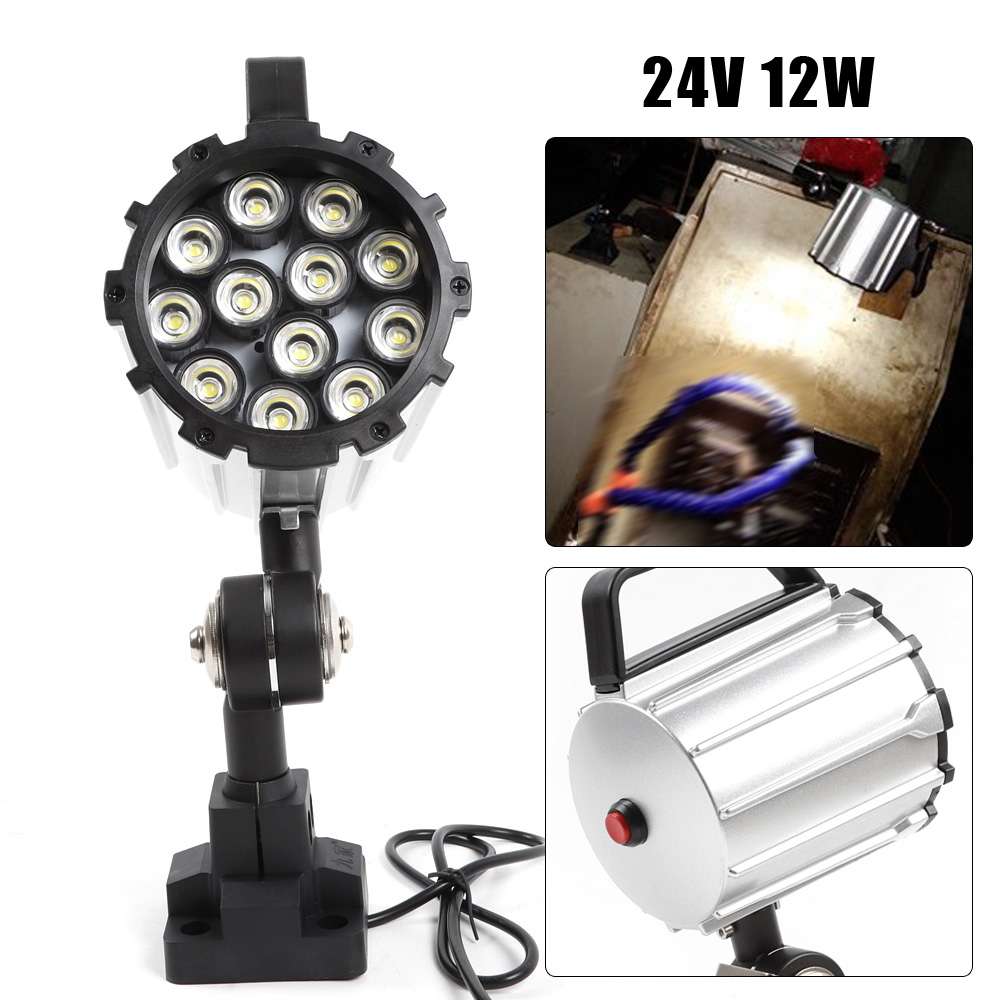 Long Arm L720mm Lathe Machine 12W LED Light 24-36V Swing Lamp Waterproof Lamp