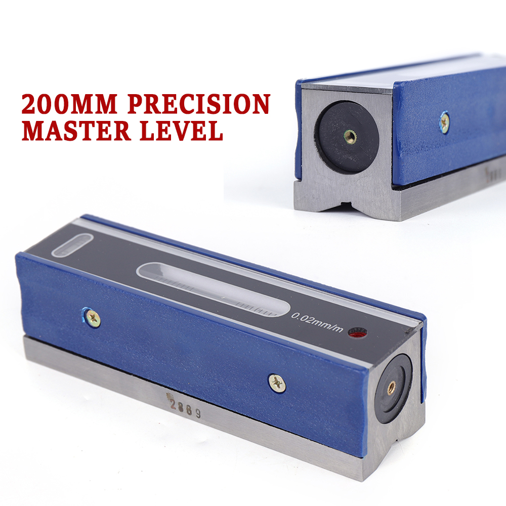 with Storage Case 200mm High Accuracy 0.02mm//m Precision Level Bar Leveler