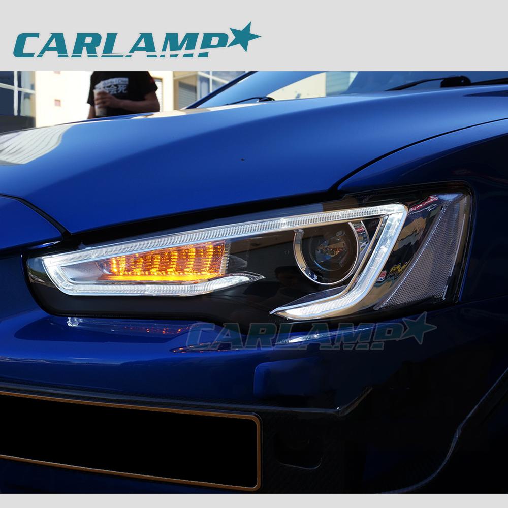 Mitsubishi Lancer Evo X Black: LED Headlights For Mitsubishi Lancer & EVO X 2008-2017