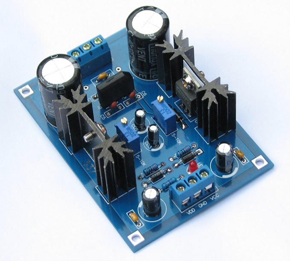 Ac  Dc 12v 24v Lm317 Lm337 Linear Voltage Regulator