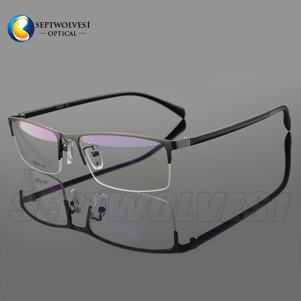 185f104f8d1 Details about New Men s Metal Half Rimless Myopia Eyeglasses Frames Optical  Eyewear RX Able