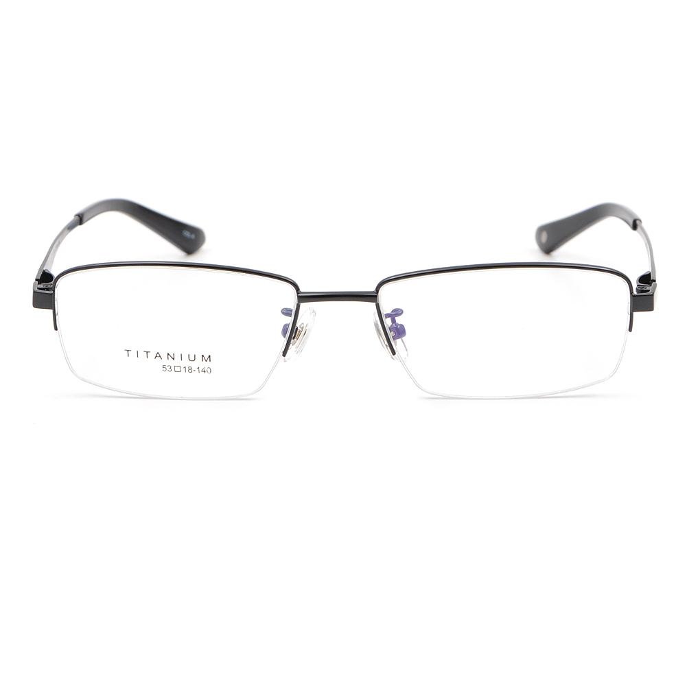 61f4b7670f3 US Stock Designer Pure Titanium Eyeglasses Frames Men s Half Rimless ...