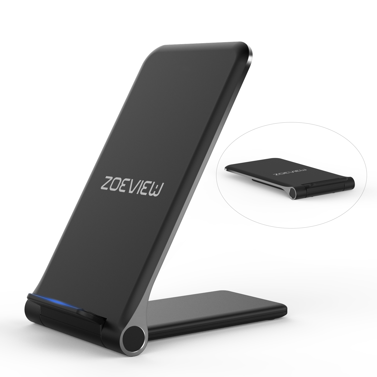 S7 S7 Edge //S6 Edge Plus//Note 5 Qi Wireless Charging Stand Dock for Samsung Galaxy S10//S10 Black