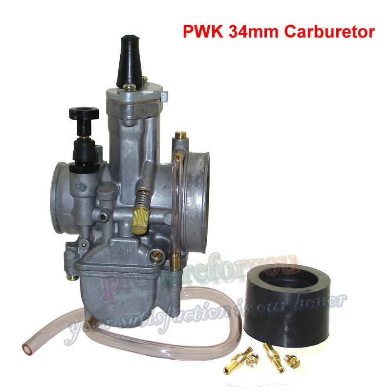 PWK 28//30//32//34mm Racing Flat Side Carburetor For Scooter ATV Go Kart Dirt Bike