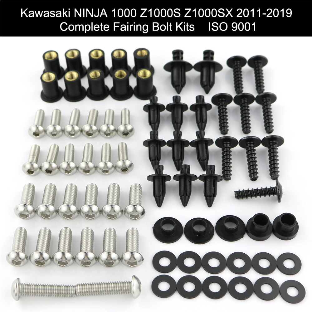 Complete Fairing Bolts Kit For Kawasaki Ninja 650 ER-6n//900//1000 Z1000S Z1000SX