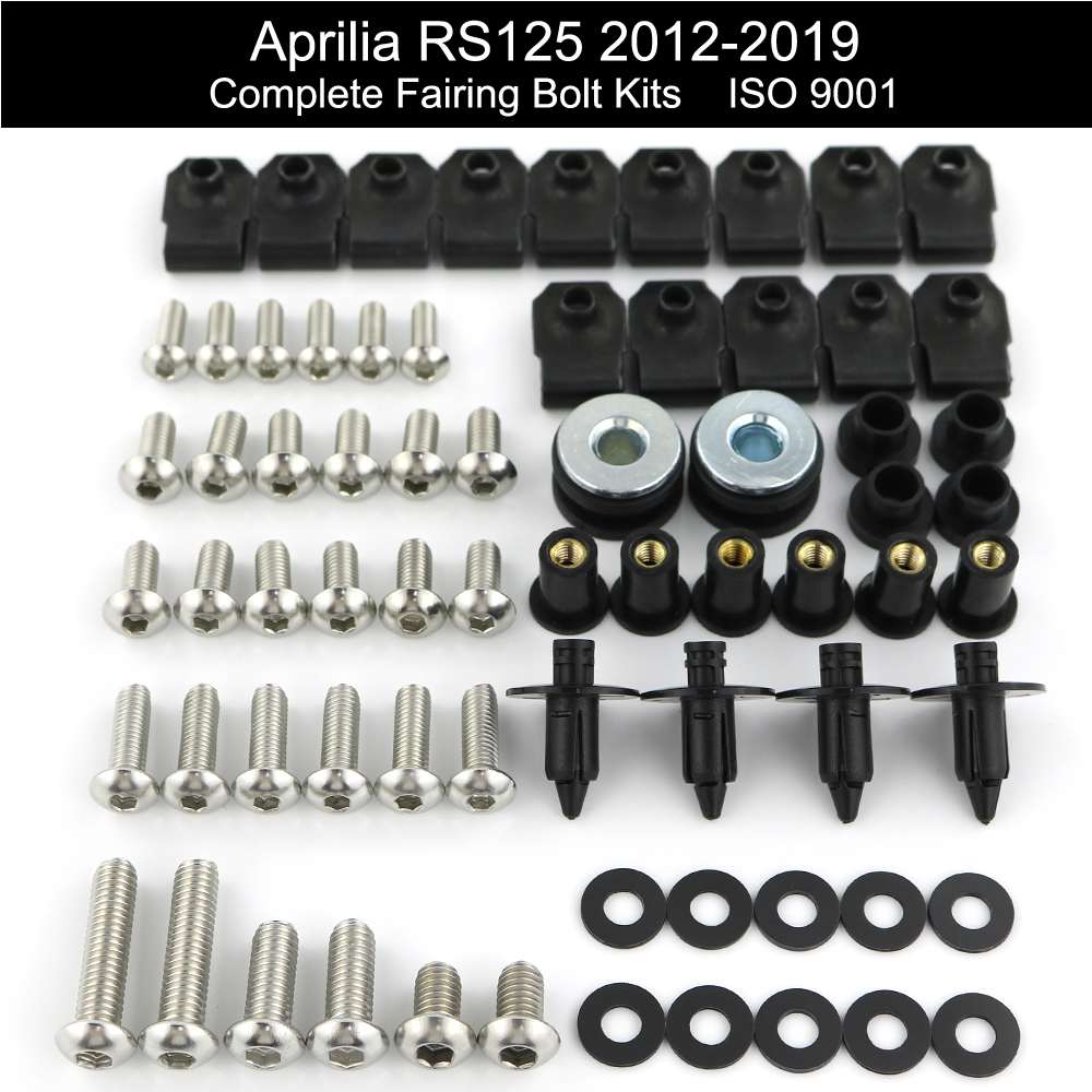 2007 2008 GSX-R GSXR 1000 Fairings Bolts Screws Fasteners Kit Set Made in USA Black GHMotor